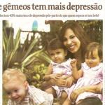 Mãe de gêmeos tem mais depressão pós parto
