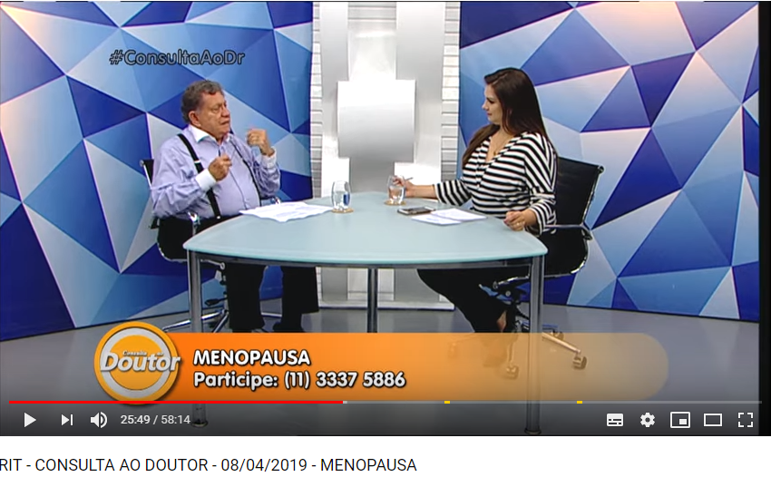Dr. Claudio Basbaum fala sobre menopausa no programa Consulta ao Doutor